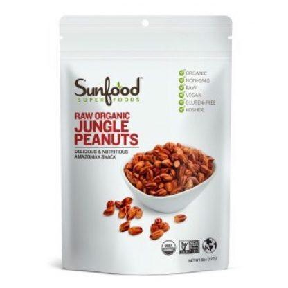 サンフード オーガニック ジャングルピーナッツ227g-栄養豊富な原種のピーナッツ