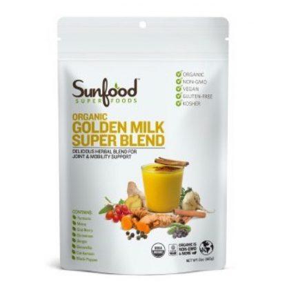 サンフード ゴールデンミルク スーパーブレンド227g-アーユルヴェーダ秘伝のウェルネスドリンク
