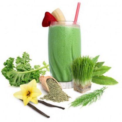 サンフード オーガニック スーパーグリーン&プロテインimage-グリーンスーパーフードと発芽玄米プロテイン、乳酸菌、酵素をブレンド