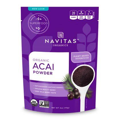 ナビタス オーガニック アサイーパウダー227g-栄養豊富な低GI食品