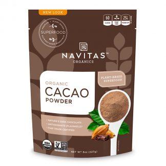 ナビタス オーガニック カカオパウダー227g-栄養豊富なココアの代用品としても使えます